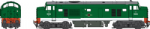Heljan 2323 - OO Scale Baby Deltic D5909 Green No Frost Grilles (Weathered)